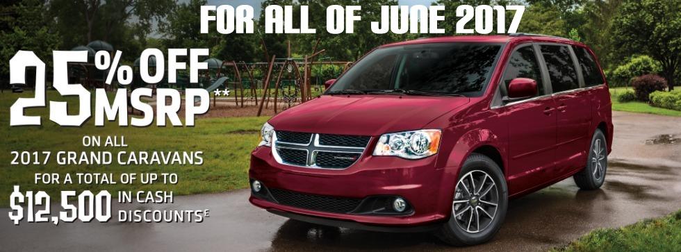 Big Discounts on Minivans all June 2017